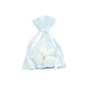 sacchetti in organza bianco
