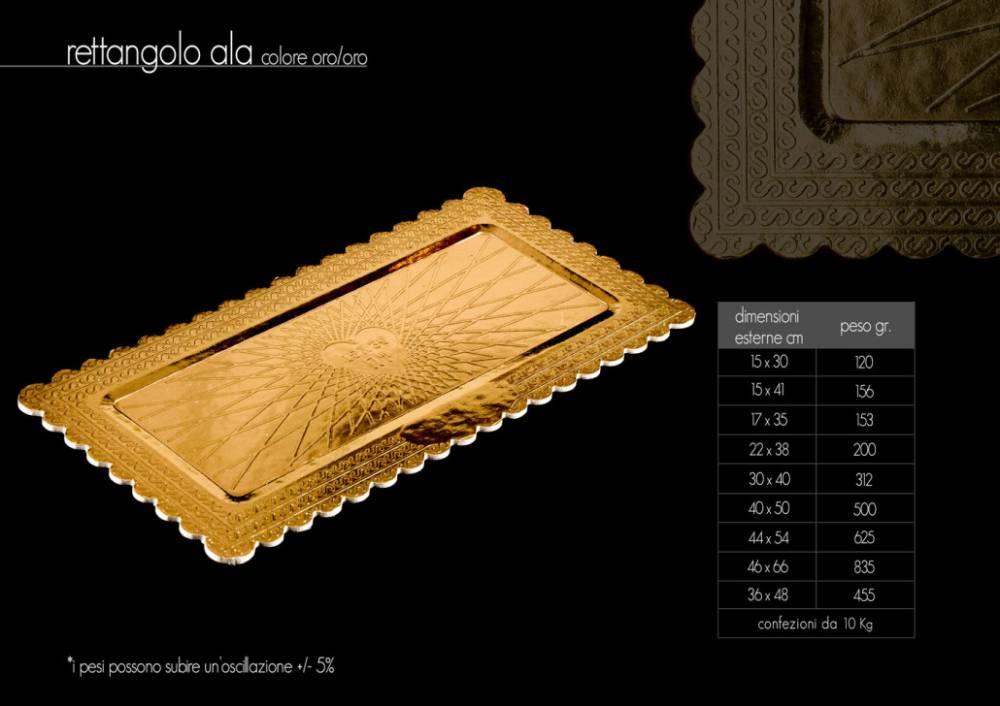 Rettangoli cartone oro
