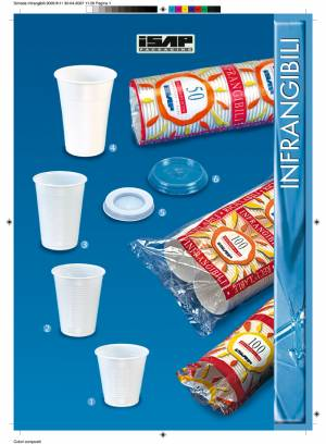 Bicchieri plastica bianchi 200 cc e 80 cc