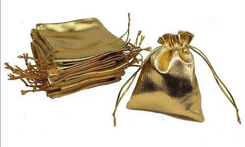 sacchettini in tessuto colore oro